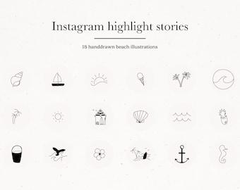 Instagram Story Highlight Icon Covers, Social Media Instagram Story, Highlight Icon Set Package, Instagram Story Branding Kit