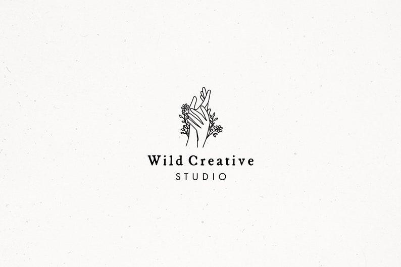 Premade Botanical Logo Design Floral Branding Logo Design image 0