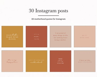 Motherhood Quotes for Instagram, Mom Social Media Marketing, Social Media Content Creation, Mom Instagram Post Quotes, Instagram Post Ideas