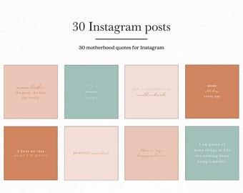 Motherhood Social Media Post, Social Media Marketing, Instagram Post Ideas, Instagram Mom Promotional Template, Mom Instagram Post Quotes