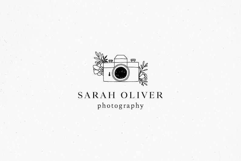 Photography Premade Logo Design Camera Logo Design Watermark image 0