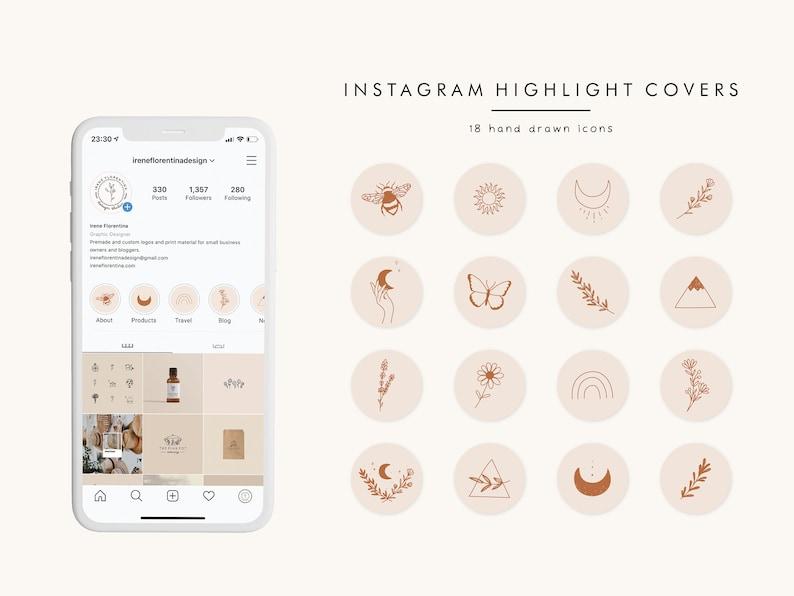 Instagram Highlight Covers Boho Instagram Story Highlight image 0