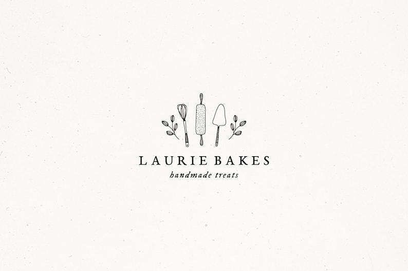 Premade Bakers Brand Bakery Logo Design Business Baker image 0