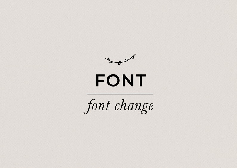 Add on: Change Font for any of the Premade Logo Designs in the image 1