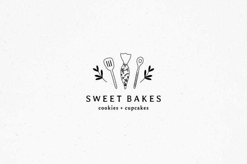 Minimal Logo Modern Logo Bakery Premade Logo Design Baking image 0