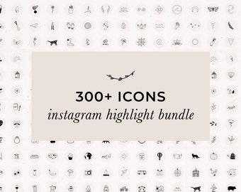Transparent PNG Instagram Story Highlight Bundle 300 Icons Set Social Media, Instagram Templates Hand drawn Illustrations Fitness Cosmetic