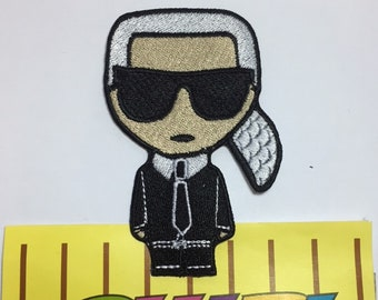 karl lagerfeld embroidery medium patch