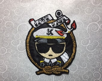 captain karl embroidery patch