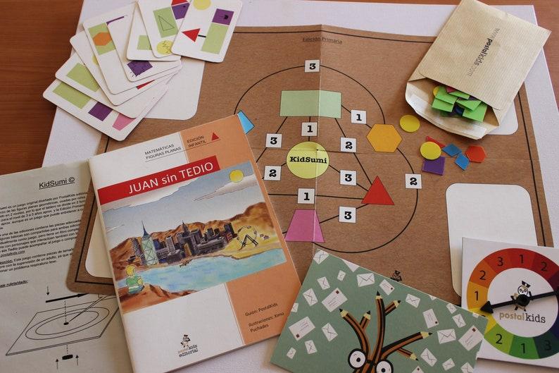 Board Game Mathematical Kidsumi and book John without Tedium. image 0