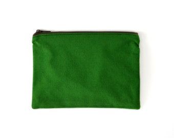 OUTLET   zipper pouch   green coin purse   zero waste vegan   eco friendly  recycled cotton ad9ca521bc2c0
