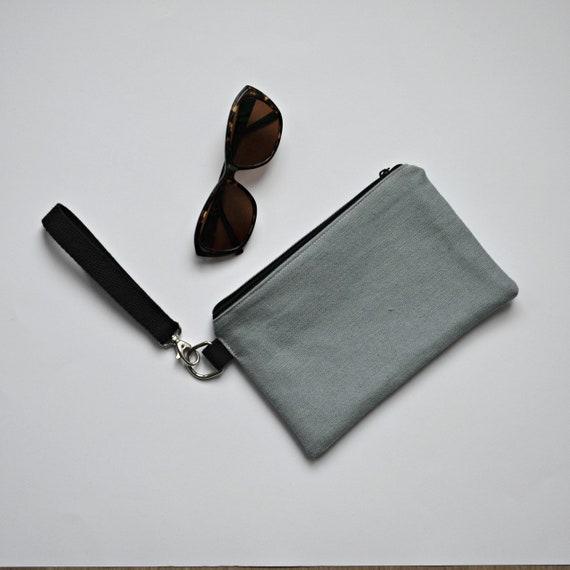 OUTLET   vegan clutch bag   gray organic purse   grey zero  336e3d5f210f6