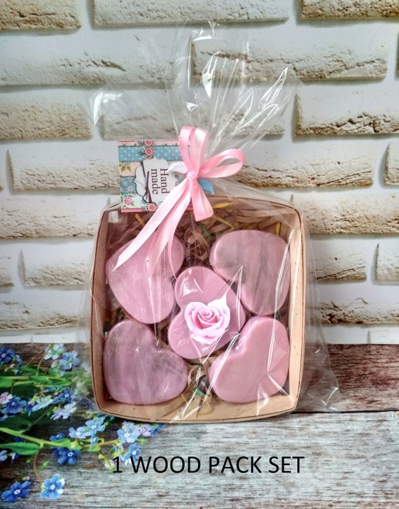 Heart Soap Set 5 Gift Idea For Sister Valentines Day Gift Pink Etsy