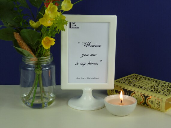 classic book love quotes framed r tic literary gift