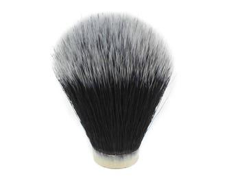Black & Gray Synthetic Hair Shaving Brush Knot (20mm x 63mm)