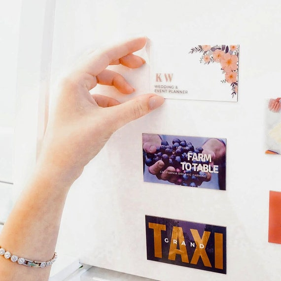 Cartes De Visite Magnetiques Unique Promouvoir Lentreprise Carte