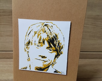 Ron Weasley Greeting Card (hand painted print)