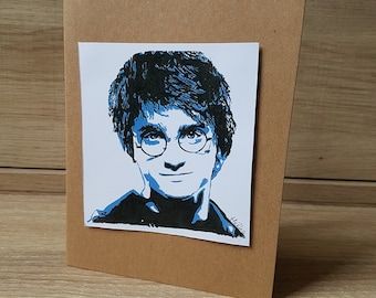 Harry Potter and The Goblet of Fire Greeting Card (Hand painted Print)