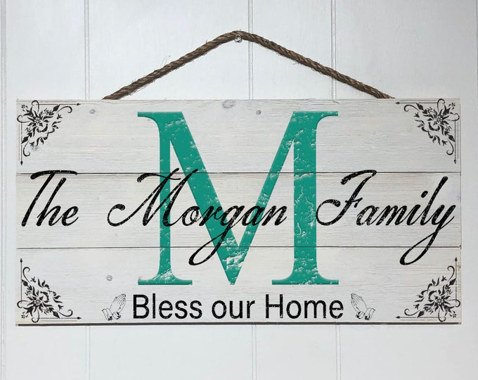 Personalized Family Sign, Custom Family Name Wood Sign, Rustic Family Sign, Established Sign, Family Name Wooden Sign, Farmhouse Sign