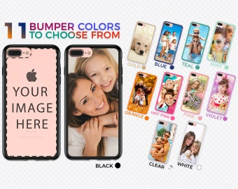 Personalized iPhone 8, 7, Plus Case - Create Your Own Phone Case with CUSTOM PHOTO & BUMPER Color on our Unique Protective Hybrid Cover