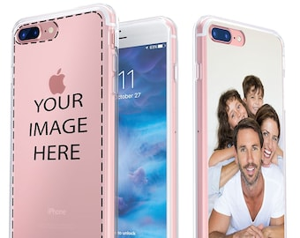 Personalized iPhone X, 8, 7, Plus, Galaxy S7, S8 LG Case - Create Your Own Phone Case with Custom Photo on our Unique Clear Protective Cover