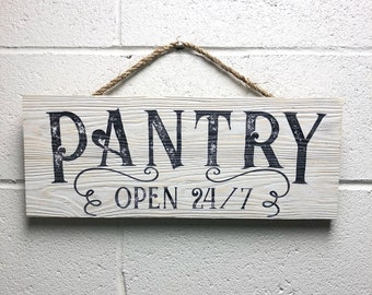 Pantry Sign, Kitchen Signs, Kitchen Decor, Rustic Kitchen Sign, Kitchen Wall Decor, Wood Pantry Sign, Kitchen Wall Art, Farmhouse Sign