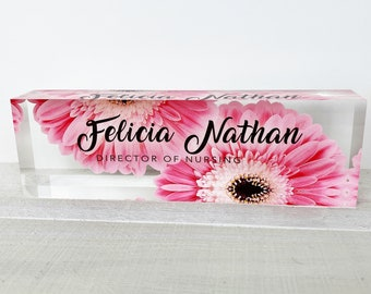Personalized Name Plate for Desk | Custom Office Decor Nameplate Sign | Personalised Gift