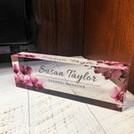 Personalized Name Plate for Desk   Custom Office Decor Nameplate Sign   Personalised Gift