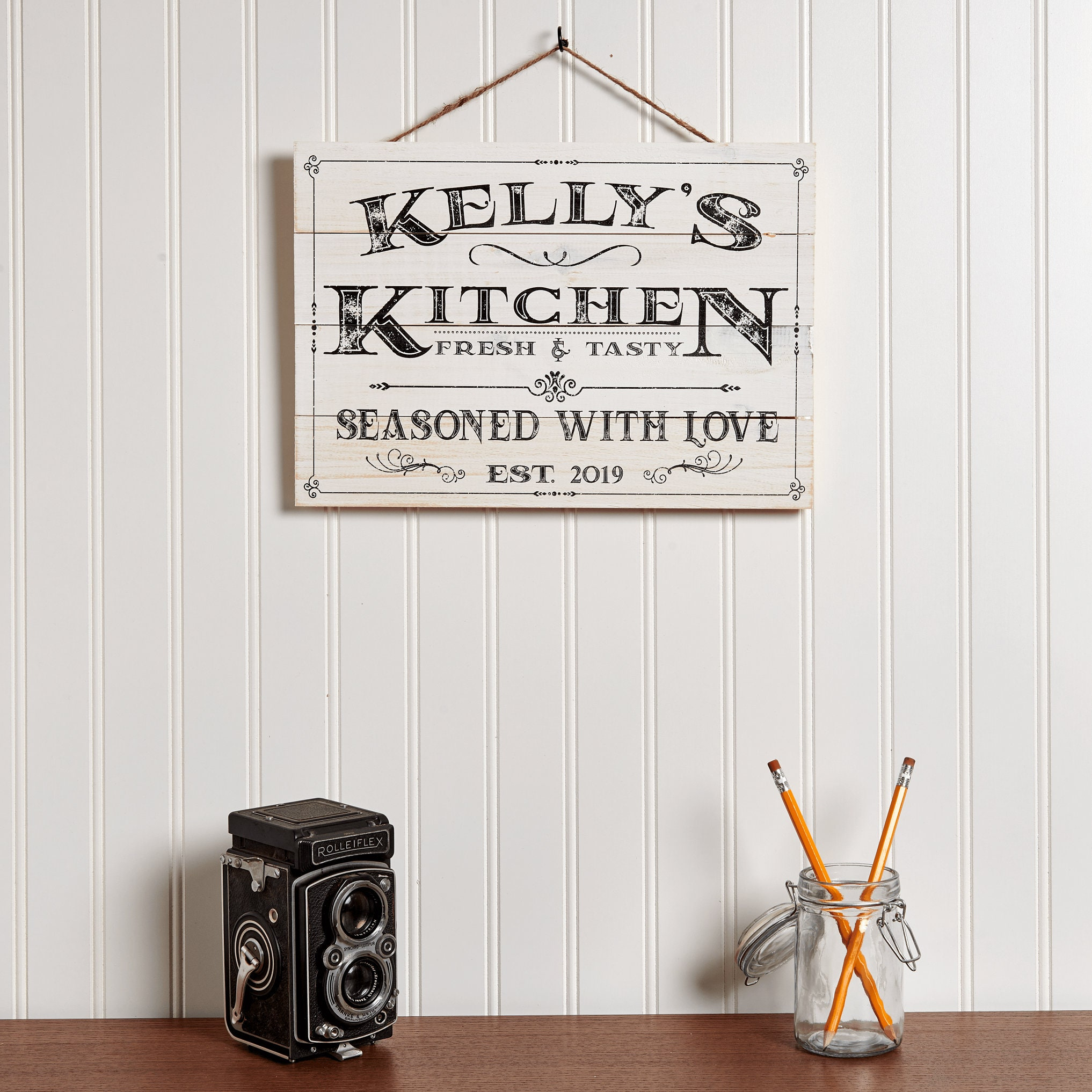 Personalized Kitchen Sign, Rustic Kitchen Decor, Custom ...