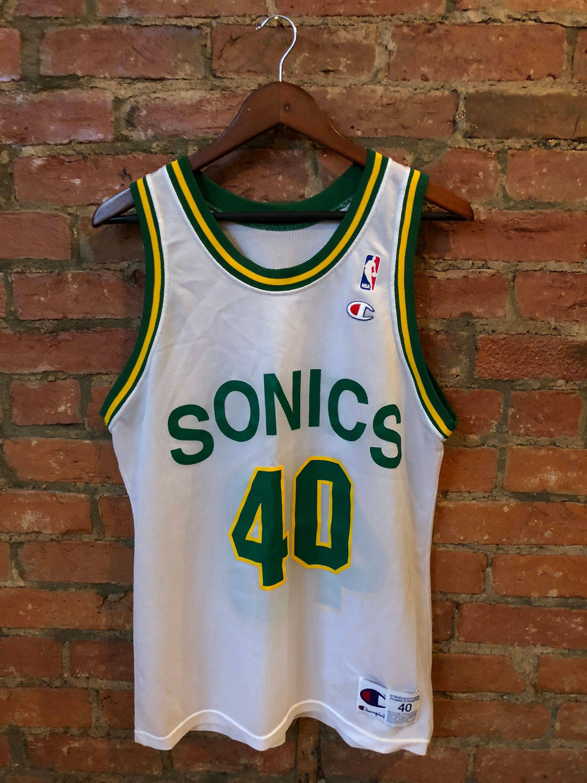finest selection a1b93 79ab9 Retro NBA Seattle Supersonics Jersey | Shawn Kemp | SZ 40