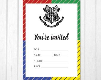 blank invitations etsy
