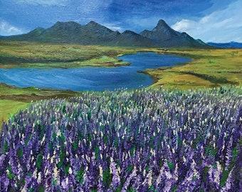 Acrylic+oil painting on canvas