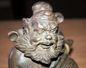 Japanese Bronze Okimono Shoki the Demon Queller