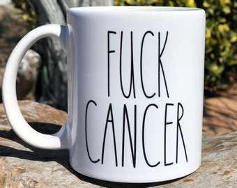 F@ck CancerBreast Cancer Awareness Coffee MugCancer Picked The Wrong B*ith
