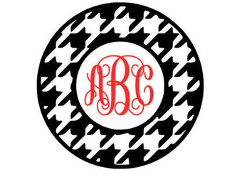 Houndstooth Monogram Decal