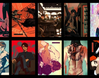 "Choose 2: Sex Therapy Original Comic 4""x6"" mini prints yaoi BL manga CATHEXIS SixSpades"