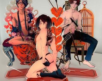 "Acrylic standees ""Sex Therapy"" CATHEXIS BL yaoi comic manga anime 8"" tall"