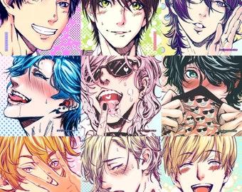"CHOOSE 2: Yarichin B!tch Club mini print set 4""x6"" BL manga yaoi Yuri Ayato Tamura Yui Fujisaki Jimmy Shikitani Akemi Itome Yaguchi Kashima"