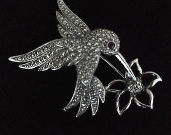 Avon Hummingbird brooch