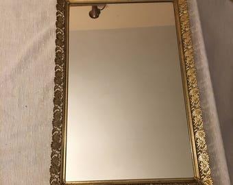 Vintage vanity mirror trays