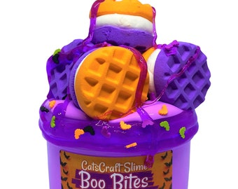 "DIY Clay Slay Slime ""Boo Bites"" Scented Butter Slime Halloween Kit ASMR 6 or 8 oz"