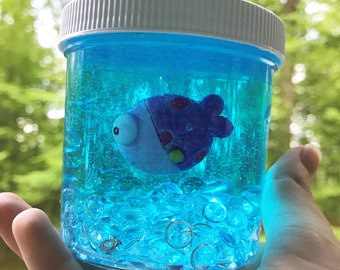 clear slime with charms