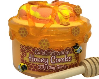 """DIY Clay Slay Slime """"Honey Combs"""" Scented Butter Slime Donut Honeycombs Kit ASMR"""