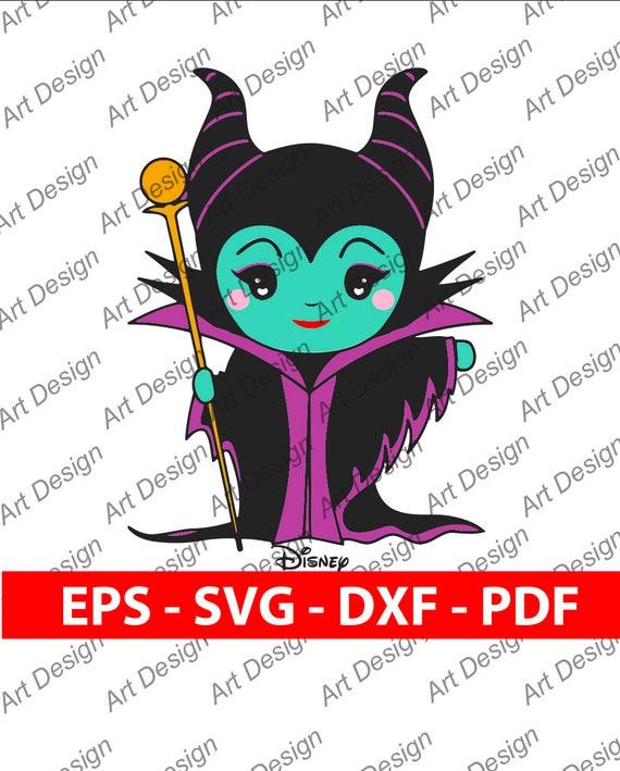 Malefica Maleficent Disney Villanos Dark Clip Art Vector Svg Dxf Eps Pdf