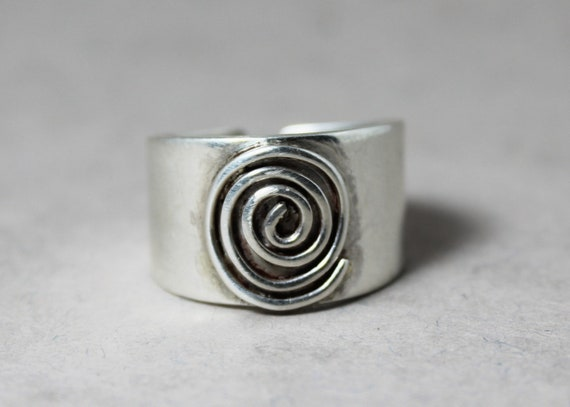 Sizes 5 6 7 /& 8 UK Seller Sterling Silver Spiral Ring
