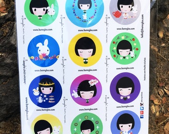 Bunnylou Tea Musings Stickers