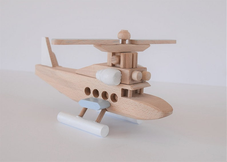 Wooden helicopter Nursery decor Custom personalized Boys room decor Eco friendly gifts