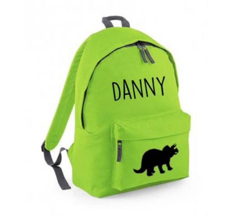 personalised school bag green dinosaur bag personalised rucksack Personalised dinosaur backpack boys backpack personalised dinosaur bag