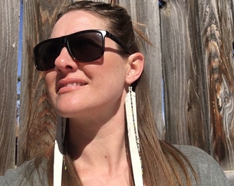 Festival Pheasant Long Leather Feather Earrings