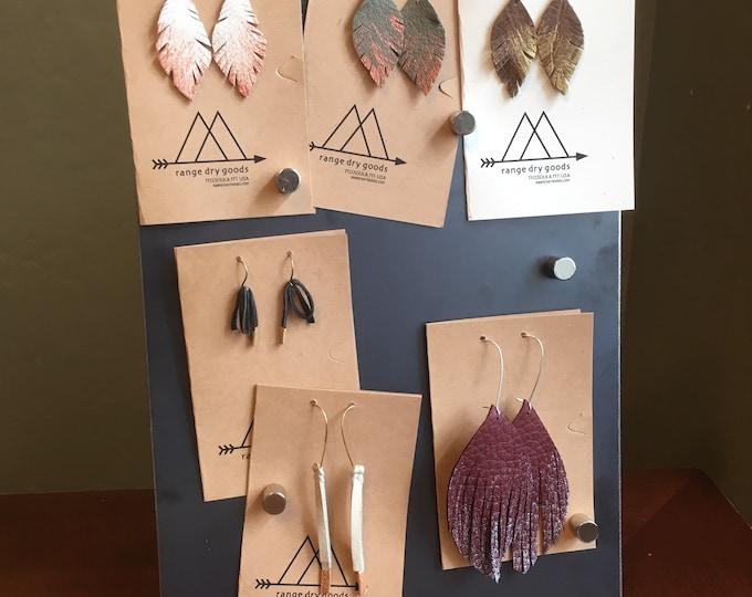 Featured listing image: Add custom leather paint to earring order