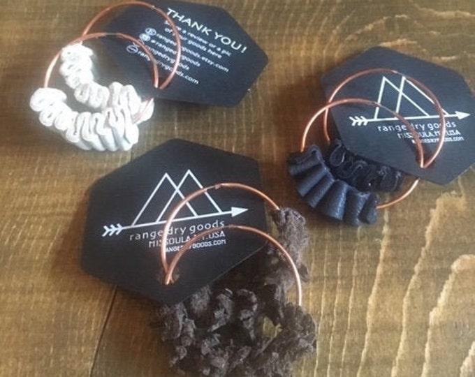 Featured listing image: Ripple Hoop Earrings